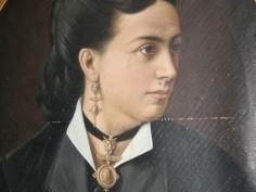 Palazzo Vincenti Mareri. Ritratto di Maria Cenci Bolognetti, XIX sec.